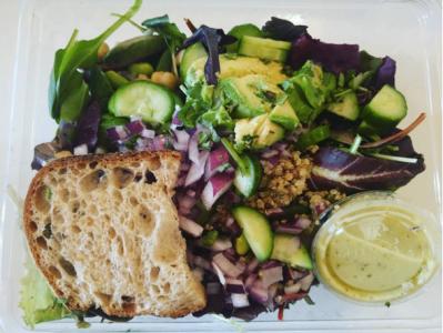 Be Well Salad a la Mixt Greens. Always hits the (vegan) spot.